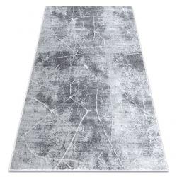 Moderní koberec MEFE 2783 Mramor - Structural dvě úrovně rouna šedá
