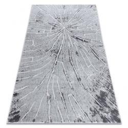 Moderní koberec MEFE 2784 Strom dříví - Structural dvě úrovně rouna šedá