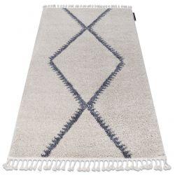 Koberec BERBER MEKNES B5910 krém / šedá Třepení berber maročtí shaggy střapatý