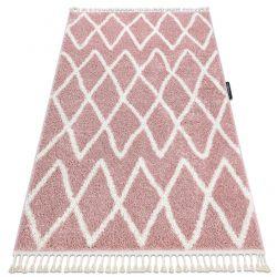 Koberec BERBER BENI růžový Třepení berber maročtí shaggy střapatý střapatý