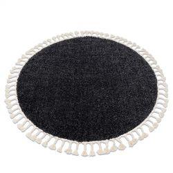 Koberec BERBER 9000 kruh šedá Třepení berber maročtí shaggy