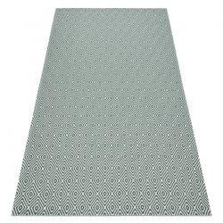 Koberec ECO SISAL Boho CASA Diamanty 21844 krém / zelená, recyklovaný koberec