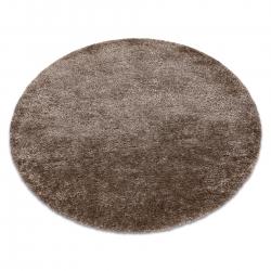 Kulatý koberec FLUFFY shaggy béžový