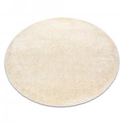 Kulatý koberec FLUFFY shaggy krém