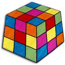 Koberec PAINT hexagon - 1546 modrý