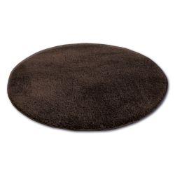 Koberec kruh SHAGGY MICRO hnědý