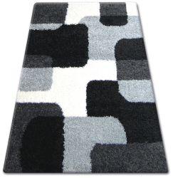 Koberec SHAGGY ZENA 2526 bílý / černý
