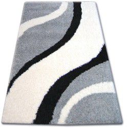 Koberec SHAGGY ZENA 3182 šedá / bílý