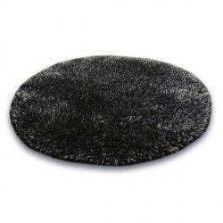 Koberec kruh SHAGGY NARIN P901 black melon