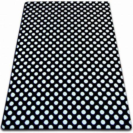 Koberec SKETCH - F764 bílá/ černá - tečky