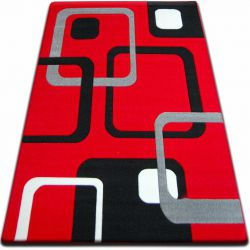 Koberec FOCUS - F240 červený čtverce