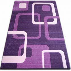 Koberec FOCUS - F240 tmavě fialová čtverce