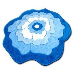 Koberec pro děti KRUH PRUMER HAPPY C273 KVĚT modrý