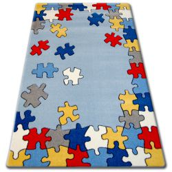 Koberec pro děti HAPPY C190 modrý Hádanka