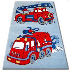 Koberec pro děti HAPPY C190 modrý Hasičský Vůz
