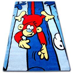 Koberec pro děti HAPPY C176 modrý Opice