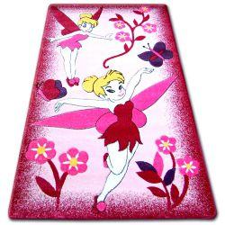 Koberec pro děti HAPPY C224 růžový Víla