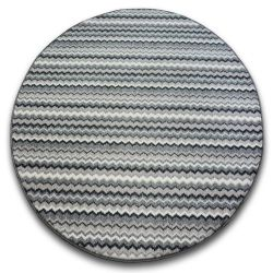 KOBEREC kruh ZIGZAG šedá