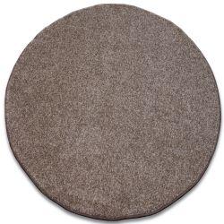 Koberec kruh INVERNESS hnědý