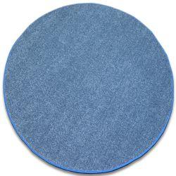 Koberec kruh INVERNESS modrý