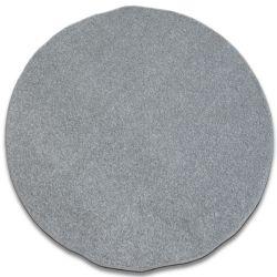 Koberec kruh INVERNESS stříbro